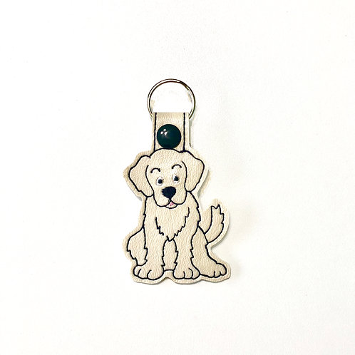 Golden Retriever Key Fob