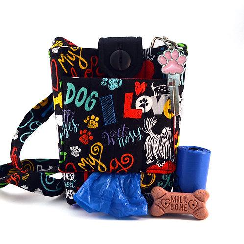 Words of Love Dog Walking Bag Front