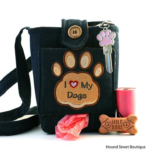 """I Love My Dogs"" Dog Walking Bag"