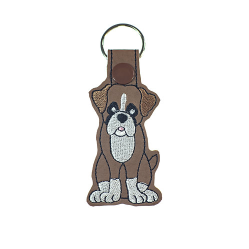 Boxer Key Fob or Luggage Tag Gift for Dog Lovers