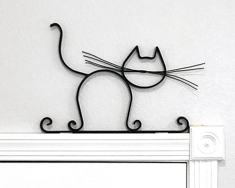 Whiskers Bailey Metal Cat Wall Decor