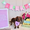 Dachshund wearing pink over the collar best friend dog bandana