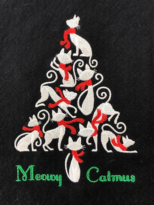 Meowy Catmus Christmas Towel