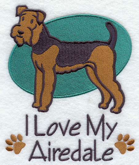 Airedale Dog for Personalized Dog Towel Gift