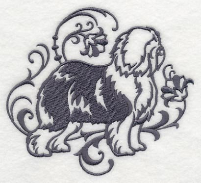 Classy Old English Sheepdog Towel