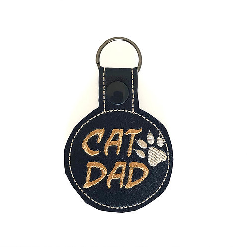 Cat Dad Key Fob