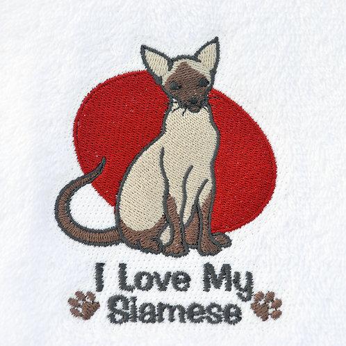 Siamese Cat Towel