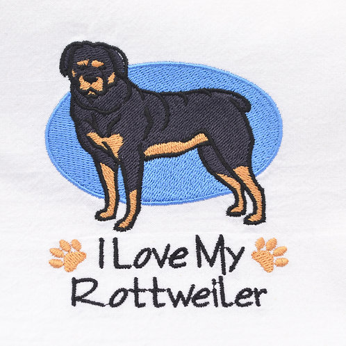 Rottweiler Tea Towel Close Up