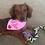 @milliedachshund wearing a custom embroidered dog bandana