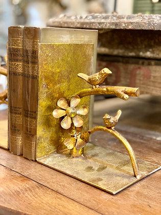 Gilded Bird Bookends