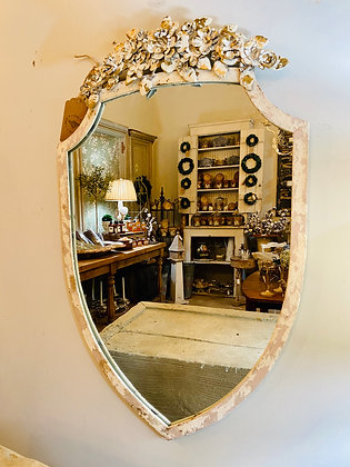 Distressed Iron  Mirror