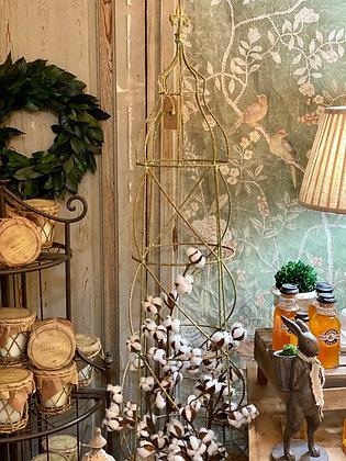 Verdigris Fleur de Lis Topiary
