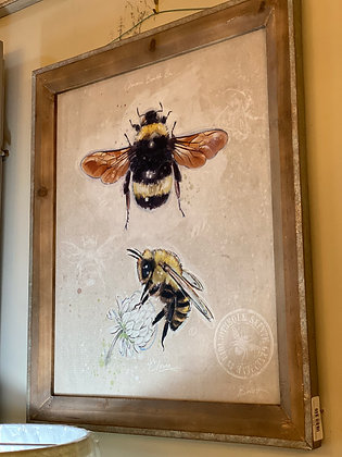 Framed Canvas Bee
