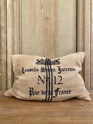 Linen Paris Pillow