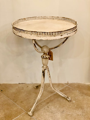 Round White Metal Table