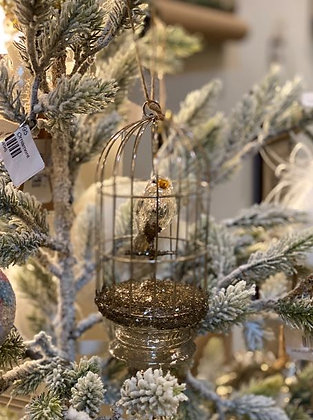 Mercury Glass Birdcage Ornament