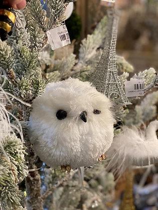 Fluffy Owl Ornament