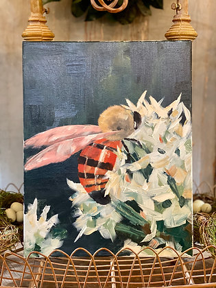 Bee on Canvas Oil Painting