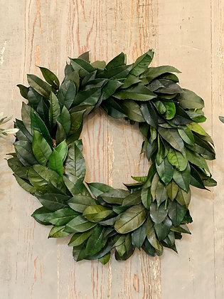 Preserved Lemon Leaf Wreath