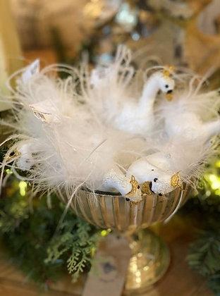 Crowned Enchanted Swan Ornament