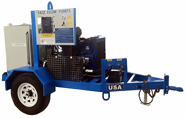 Fast Flow's 49HP Trailer Mounted HPU. This unit features state of the art oil-spill protection.