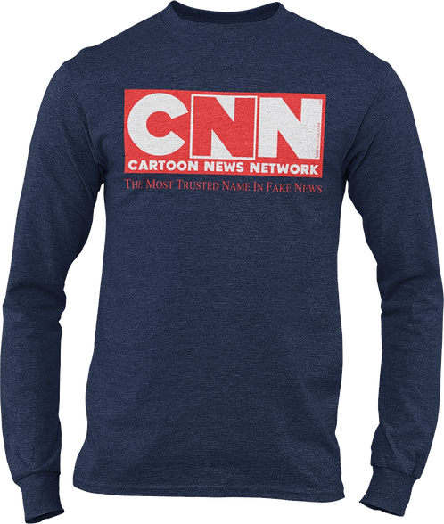CNN Cartoon News Network Long sleeve t-shirt