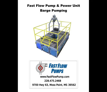 Fast Flow's new Barge Pump System for pond/pit pumping