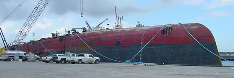 Oil Transport Barge, Example of Fast Flow Pumps Offshore and DOckside Pumping Applications