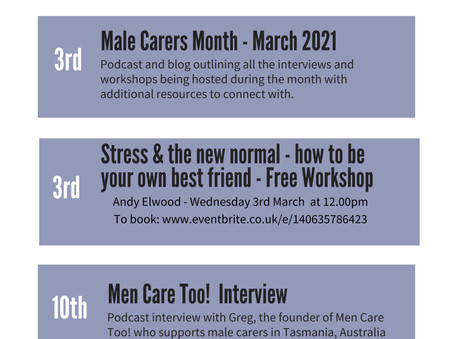MALE CARER MONTH WITH CARERS HEARTS