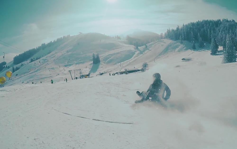 Snowboardfahren, auf ne Art.