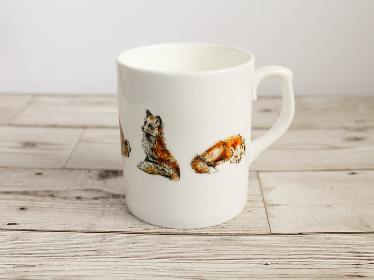 Foxes Bone China Mug