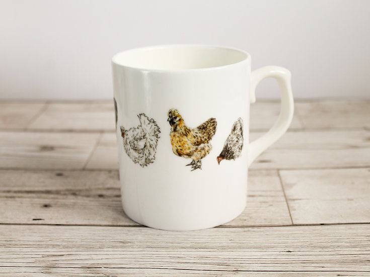Chickens Bone China Mug