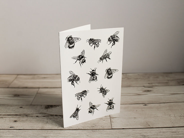 Black Bees Greeting Card