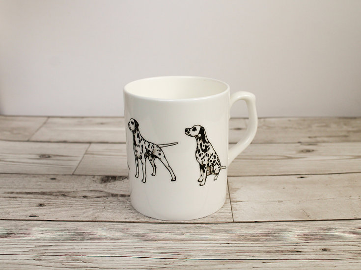 Dalmatian Dog Bone China Mug & Card Gift Set