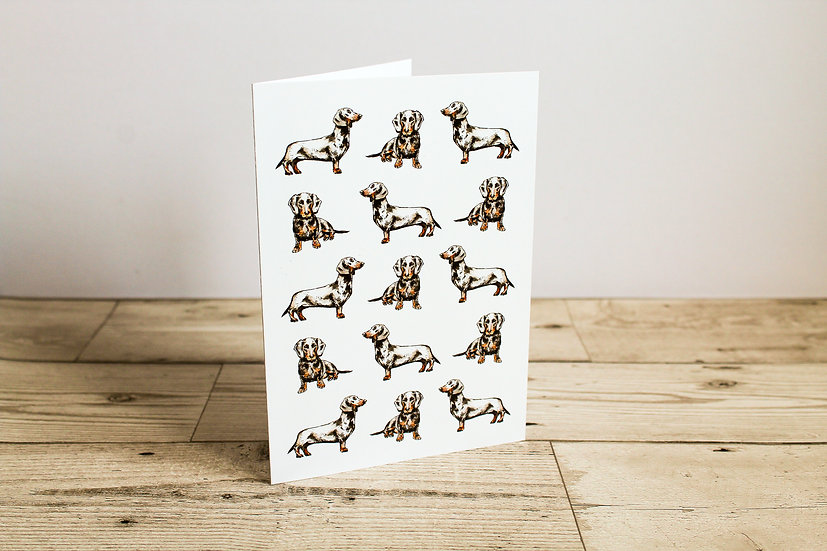 Dachshunds Greeting Card