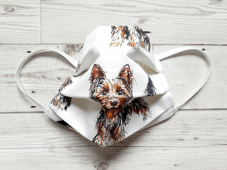 Yorkshire Terrier Print Face Mask