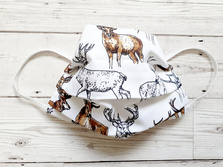 Stags Print Face Mask