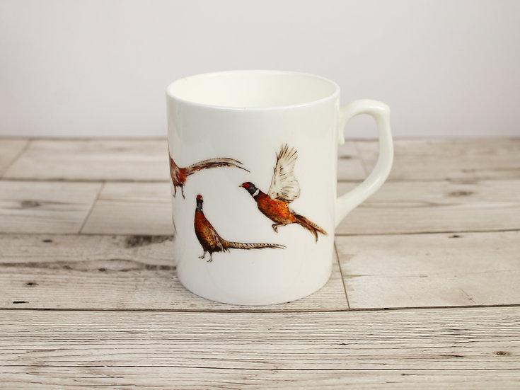 Pheasants Bone China Mug