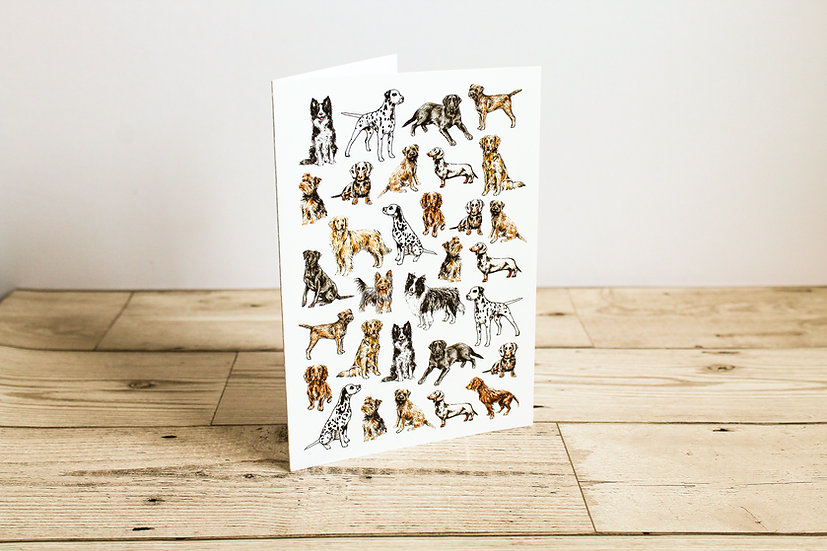 Lots of Dogs Greeting Card