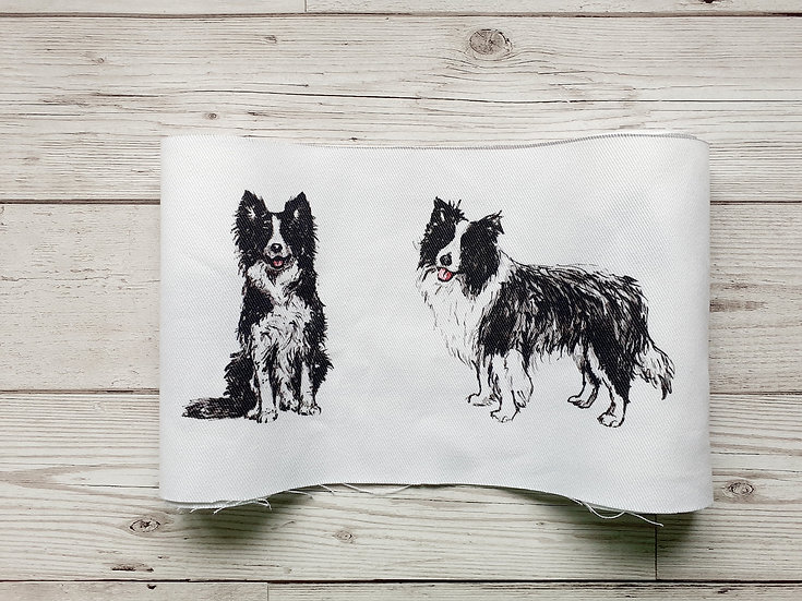 Border Collie Face Mask Pouch