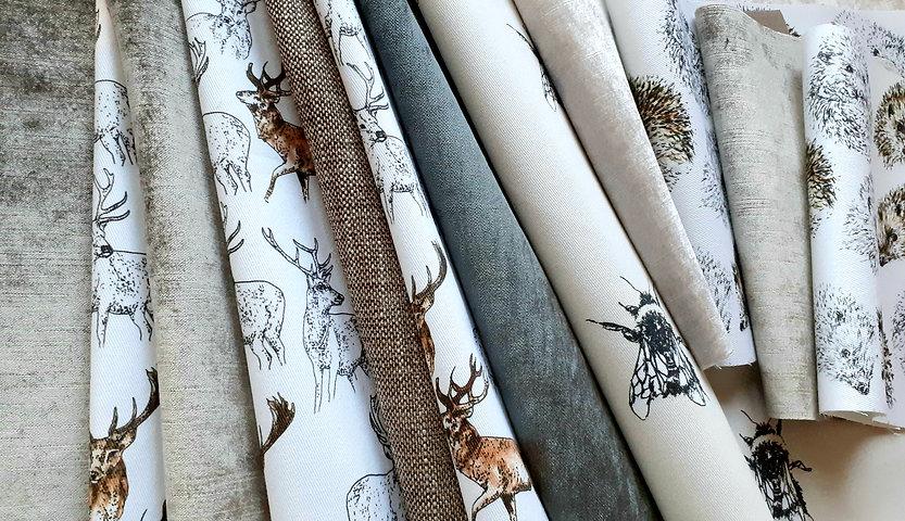 Sample Swatches of Backing Fabrics