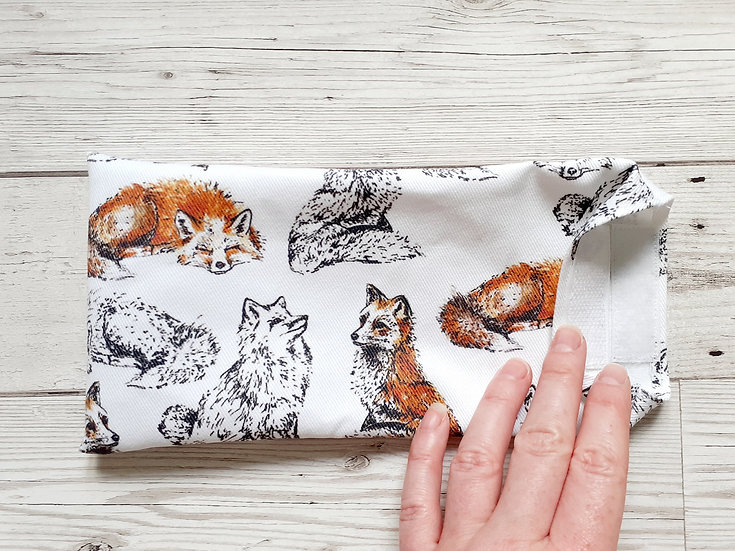 Foxes Face Mask Pouch