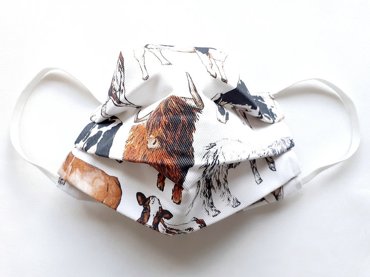 Cows Print Face Mask