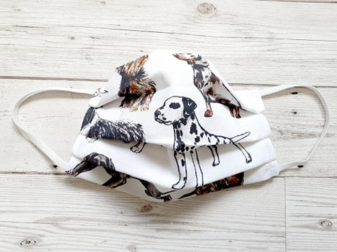 Lots of Dogs Print Face Mask