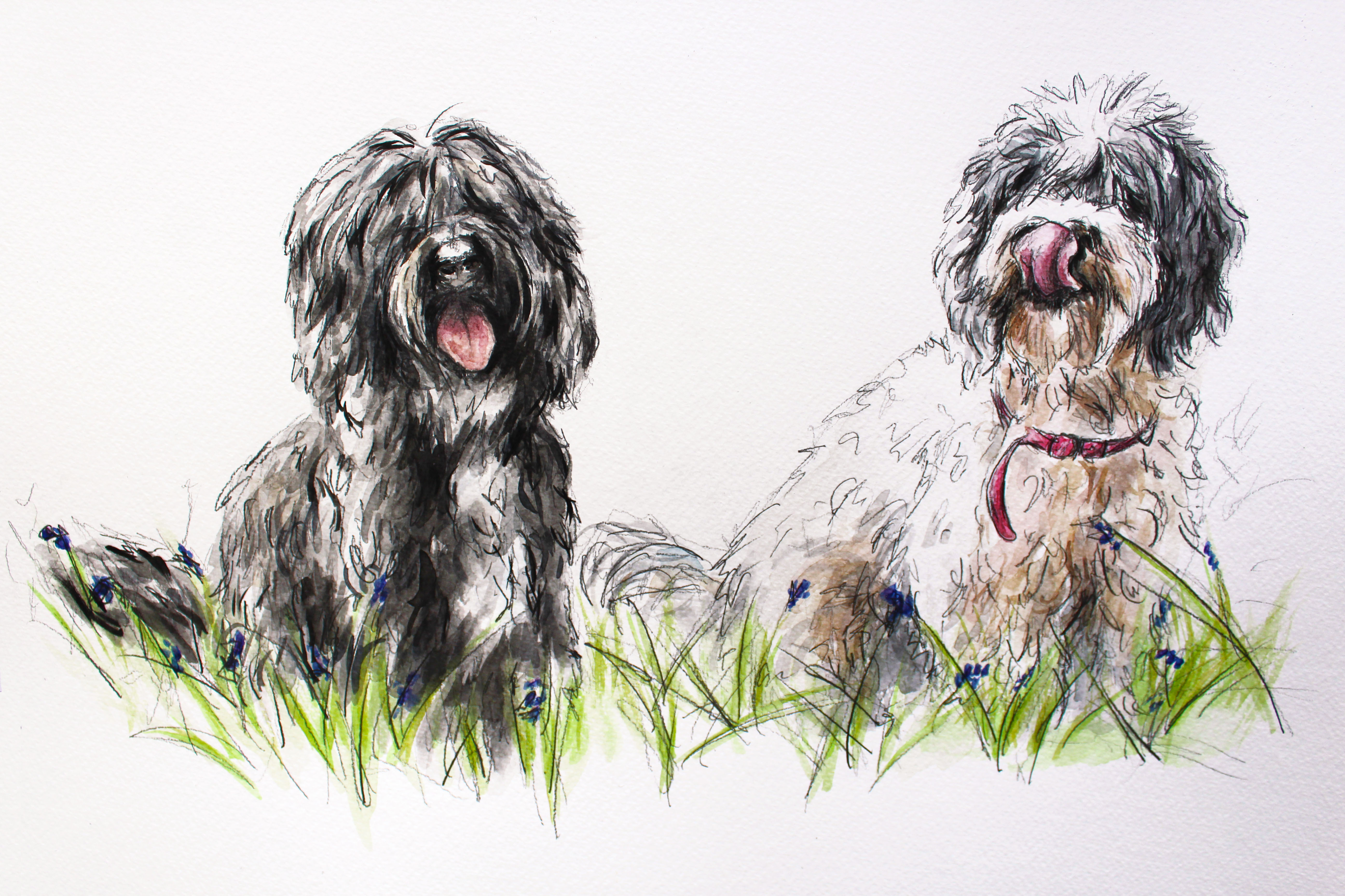 Bella and Eva's Watercolour Portrait