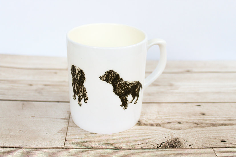 Black Cocker Spaniel Bone China Mug