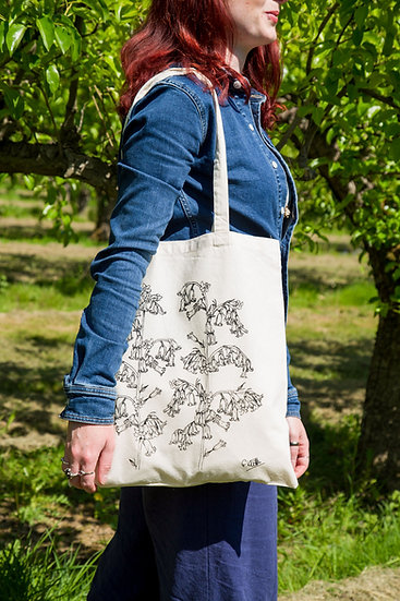 Bluebell Design Screen Printed Cotton Tote Bag
