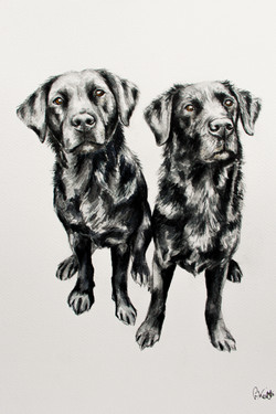 Holly and Bea's Watercolour Portrait