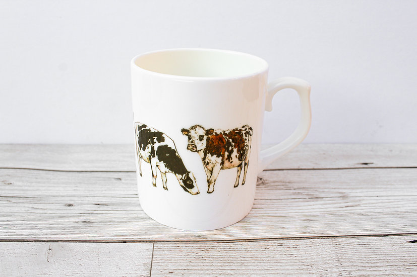 Cows Bone China Mug