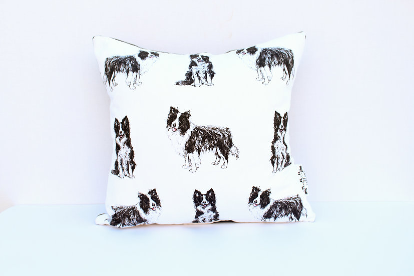 Border Collie Dog Cushion